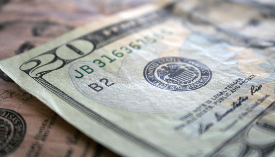Money close up stock photo
