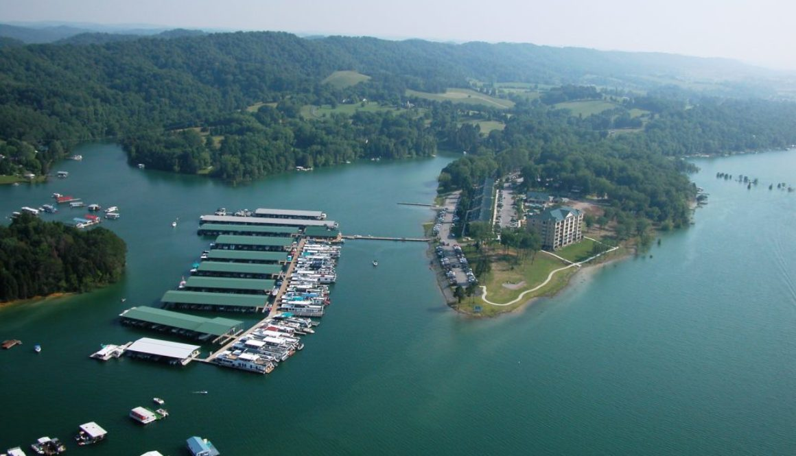 Aerial photo boat show