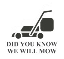 DID YOU KNOW WE WILL MOW ICON