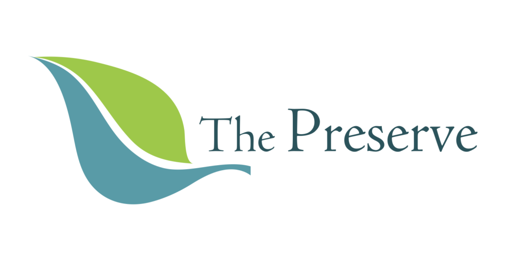Preserve Logo Text and leaf