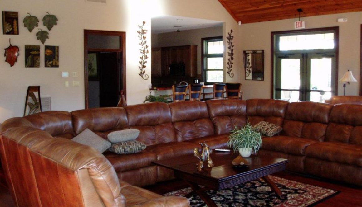 clubhouse with sectional couch
